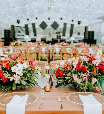 Decoración de bodas en Colombia